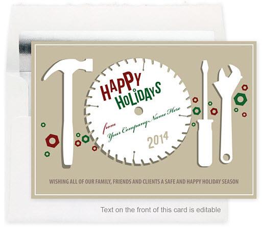 Circular Greetings Holiday Card