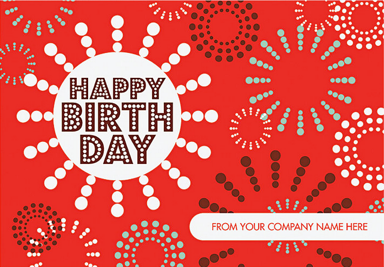 Festive Circles Birthday Card - Design 57NJR