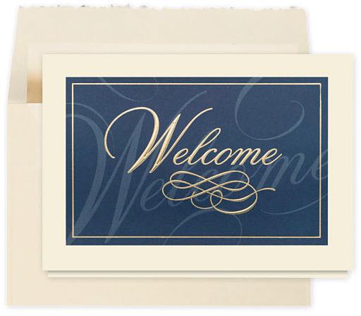 Classically Elegant Welcome Card