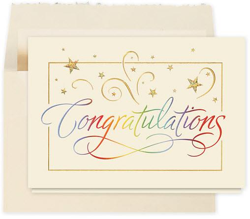 Rainbow Congratulations Card