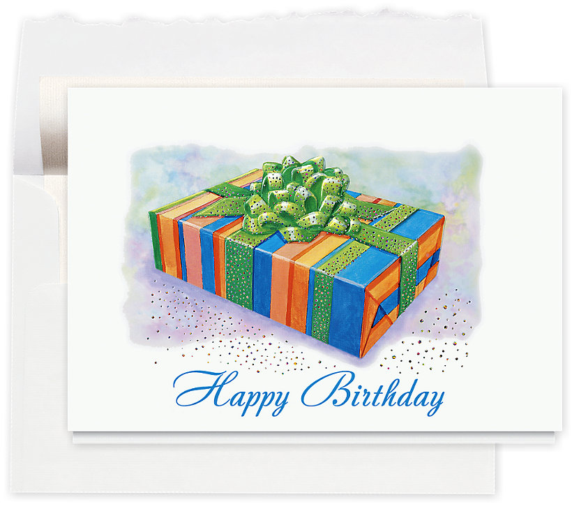 Birthday Box Sparkle Greeting Card