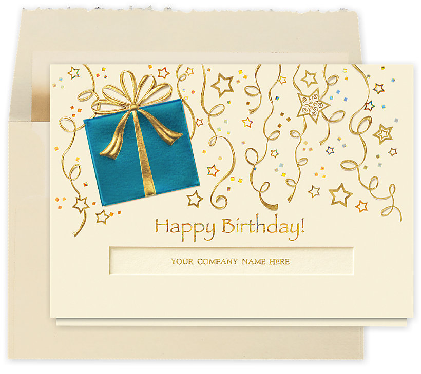 Stars and Streamers Birthday Card
