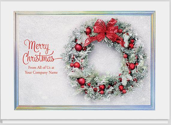 Add some flair to your christmas cards by featuring your company the gallery collection has many options to personalize your christmas cards one great choice is to display your company name on the front of the card m4hsunfo